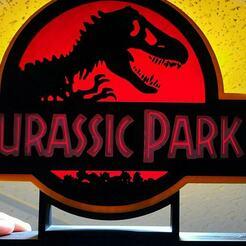 137260530_109686481060059_581220335126143456_o.jpg Download STL file Jurassic Park lamp • Model to 3D print, mewroaz