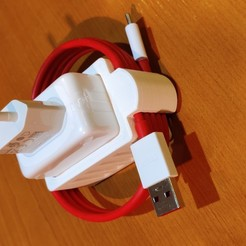 IMG_20200518_211007.jpg Download STL file OnePlus - cable support for dash charger • 3D printing model, sollitto