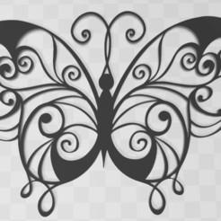 Descargar archivos 3D gratis Arte mural de mariposas, D3DCreative