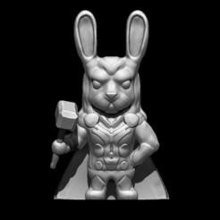 1.jpg Download OBJ file Thor Rabbit - Bunny • Template to 3D print, D3DCreative