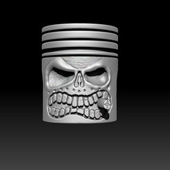 1.jpg Download OBJ file Piston Skull - Kolben Schädel • 3D print template, D3DCreative