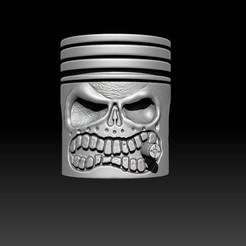 Descargar archivos STL Cráneo de pistón - Kolben Schädel, D3DCreative