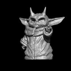 devilyoda1.jpg Download OBJ file Devil Baby Yoda • 3D printable model, D3DCreative