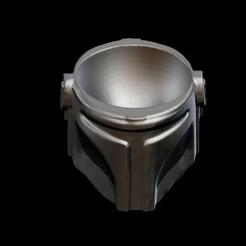 Download 3D print files Mandalorian Helmet Eggcup, D3DCreative