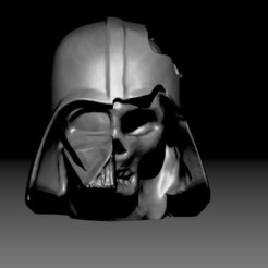 Download 3D printer designs Darth Vader Skull - Deathvader, D3DCreative