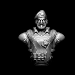 Download 3D printer designs Valorant Brimstone - Fanart Bust, D3DCreative