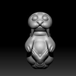Front.jpg Download free OBJ file Cute Seal • 3D printing model, D3DCreative