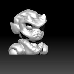 4.jpg Download free OBJ file Alien Bust • 3D print object, D3DCreative