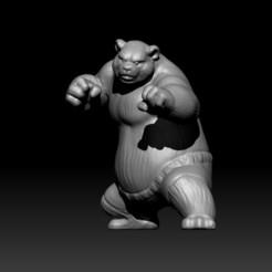 Download free 3D printer files Panda/Bear - Kung Fu, D3DCreative