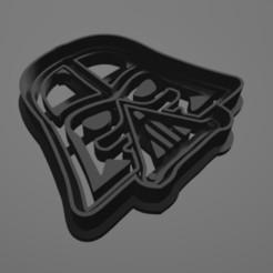 Descargar modelos 3D para imprimir Coockie cutter, cortador de galletas Darth Vader, Star Wars, vaniatapia