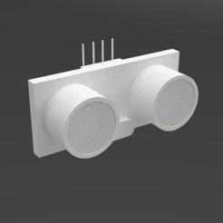 ULTRASONICO1.jpg Download free STL file Ultrasonic sensor / Ultrasonic sensor • 3D printing design, vaniatapia