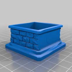 28mm_mini_case_plinth_nameplatespace.png Download free STL file 28mm mini plinth remix; featuring name plates • Object to 3D print, daftpirate15