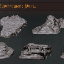 Cave_Rock_Thumbnail.png Download STL file Cave Environment Pack: Set One • 3D print object, PrintForged