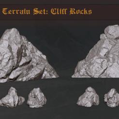 Descargar modelos 3D Paquete de terreno forestal: Rocas del acantilado, PrintForged