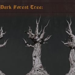 Descargar STL Paquete de terreno forestal: Árbol del bosque oscuro, PrintForged