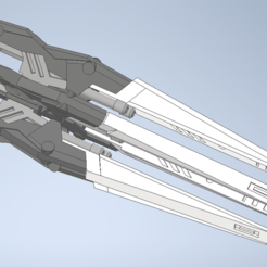 Download 3D print files DREI ZWERG Intensify Weapon for Bandai MG 1/100 Gundam Wing Custom or ProtoZero, chelseaCh