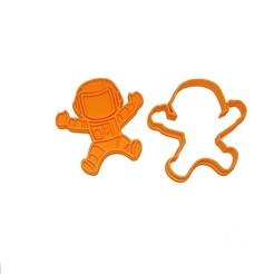 Download STL file Cookie Cutter Astronaut  • 3D print template, 3dZ
