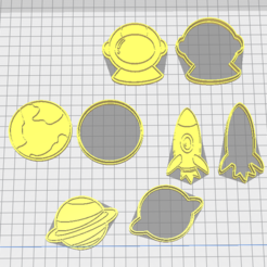 Capture.PNG Download STL file Space Cookie cutters • 3D printer object, 3dZ