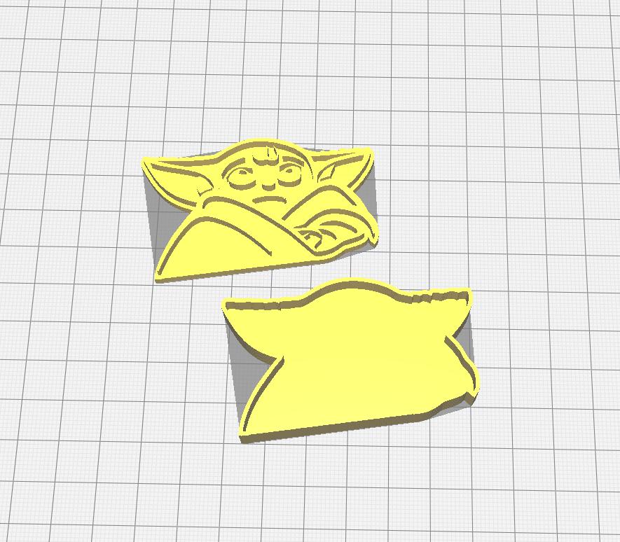 Capture.PNG Télécharger fichier STL gratuit L'emporte-pièce de bébé Yoda • Plan imprimable en 3D, 3dZ