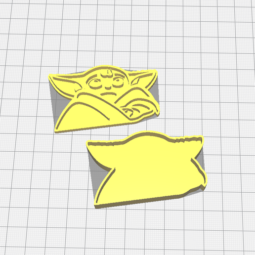 Download free STL file Baby Yoda cookie cutter • 3D printing template, 3dZ