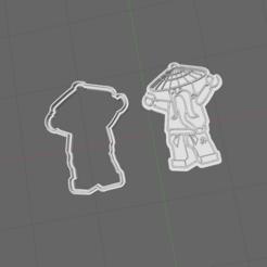 Capture.PNG Télécharger fichier STL Coupeur de biscuits Ninjago Sensei Wu • Plan à imprimer en 3D, 3dZ