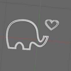 Descargar diseños 3D Cortador de galletas de elefante, 3dZ
