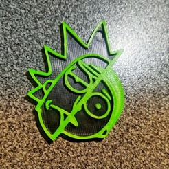 IMG_20201005_183149-01.jpeg Download STL file Keychain Rick And Morty • 3D print object, R3DI