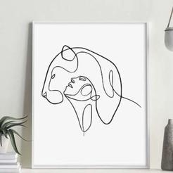 WOMAN AND LION II MOCKUP 2.jpg Download STL file WOMAN & LION ART II • 3D print object, R3DI