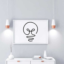 LIGHT BULB LINE ART MOCKUP.jpg Download free STL file LIGHT BULB LINE ART • 3D printing template, R3DI