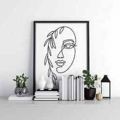 Women Line Art Mockup.jpg Télécharger fichier STL ART DE LA LIGNE FÉMININE • Objet imprimable en 3D, R3DI