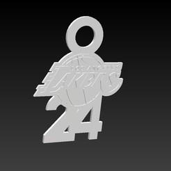 logo lakers.jpg Download STL file Kobe Bryant Lakers Leyend Keychain • 3D printable design, linares0205