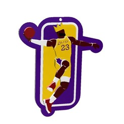 llavero lebron james.JPG Download STL file The King Lebron James at L.A. Lakers • 3D printer object, linares0205