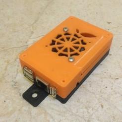 Imprimir en 3D gratis Carcasa naranja PI PC/PC2 (ventilador en el interior), Sergei000