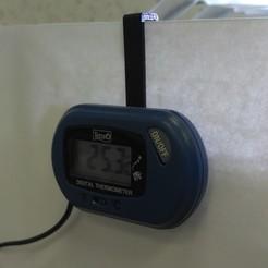 Descargar STL gratis Soporte para termómetro digital Tetra TH, Sergei000