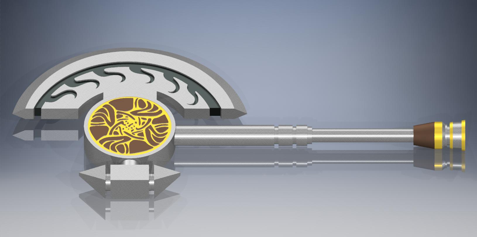 nornaxesingle.png Télécharger fichier STL gratuit Hache de main de Norn Guild Wars 2 • Modèle pour imprimante 3D, reakain