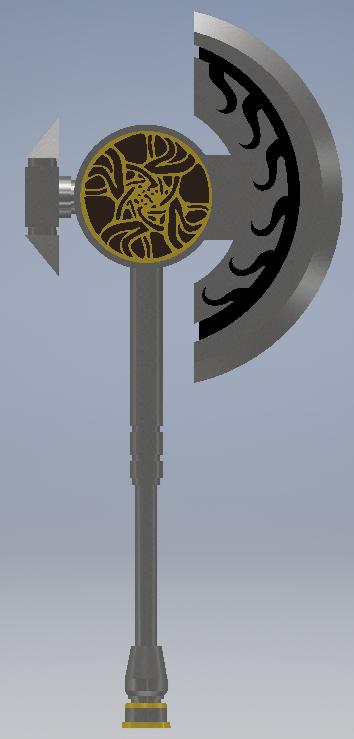 AXE.png Télécharger fichier STL gratuit Hache de main de Norn Guild Wars 2 • Modèle pour imprimante 3D, reakain
