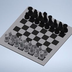 Download free STL files Chess mini board, Moonboy