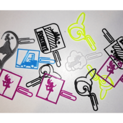 Download STL file Bookmarks-Princess-Humming bird-Unilicorn-Forklift-Fairy-Fortnite • 3D print template, ludovic_gauthier