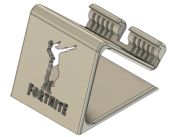 Image_1.png Download STL file Phone Holder Phone stand Fortnite-DAB • 3D printer template, ludovic_gauthier