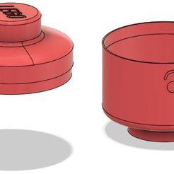 Imprimir en 3D Caja de cabeza de Lego - Sorprendido, ludovic_gauthier
