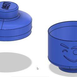 Impresiones 3D Caja de cabeza de Lego - Guiño, ludovic_gauthier