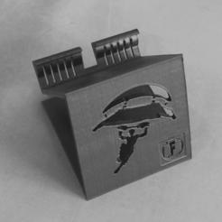 Printing_4.png Download STL file Phone Holder Phone stand Fortnite • 3D printing design, ludovic_gauthier