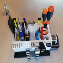 Image_1.png Download STL file 3D Printer Tools Holder with adapter for desktop • 3D printable design, ludovic_gauthier