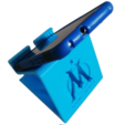 Download 3D printing designs OM Phone Holder - Olympique de Marseille, ludovic_gauthier