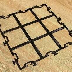 1a.jpg Télécharger fichier STL gratuit Jeu de société générique Grille de carreaux • Objet pour imprimante 3D, DasMatze