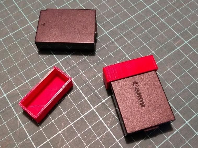 canon_e10_cover.jpg Télécharger fichier STL gratuit Couvercle de batterie Canon LP-E10 • Objet à imprimer en 3D, peaberry