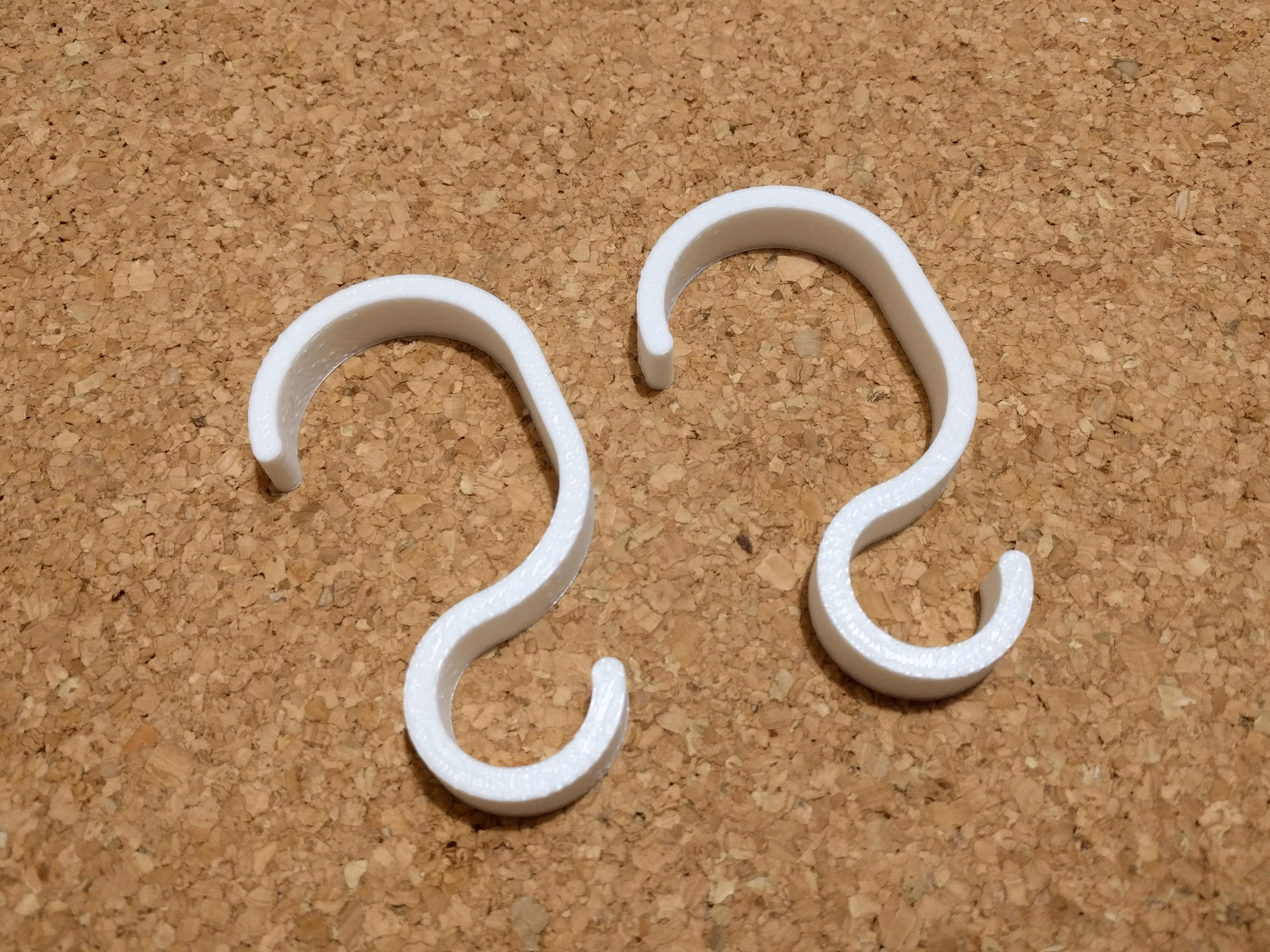 hook01.png Télécharger fichier STL gratuit Crochet pour main courante / barre d'appui / poignée de salle de bain • Modèle à imprimer en 3D, peaberry