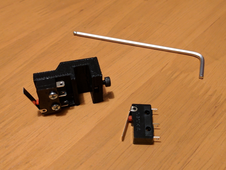 micro_probe_v1.jpg Télécharger fichier STL gratuit Sondes amovibles de nivellement de lit pour Kossel Linéaire Anycubique • Plan pour imprimante 3D, peaberry