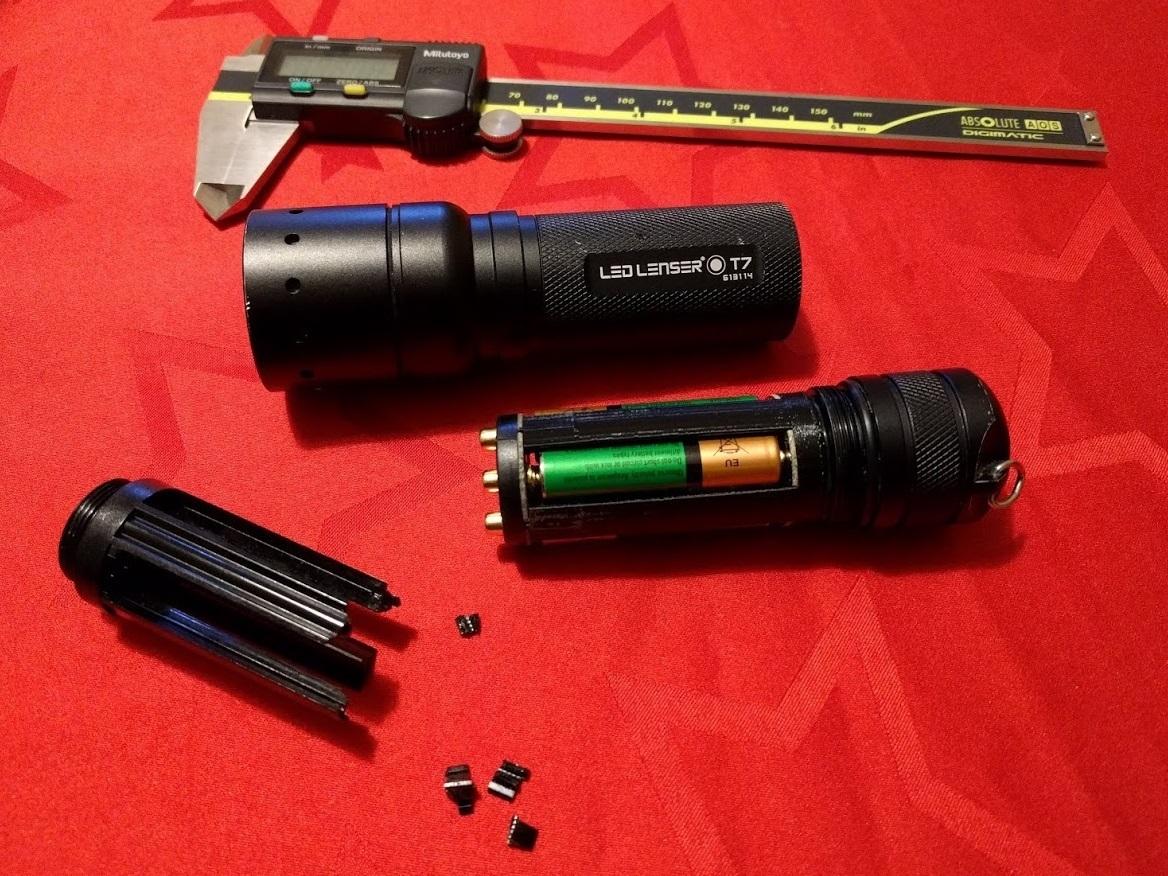 led_lenser_repair01.jpg Télécharger fichier STL gratuit Réparation du bloc-piles de la lentille LED T7 • Objet imprimable en 3D, peaberry