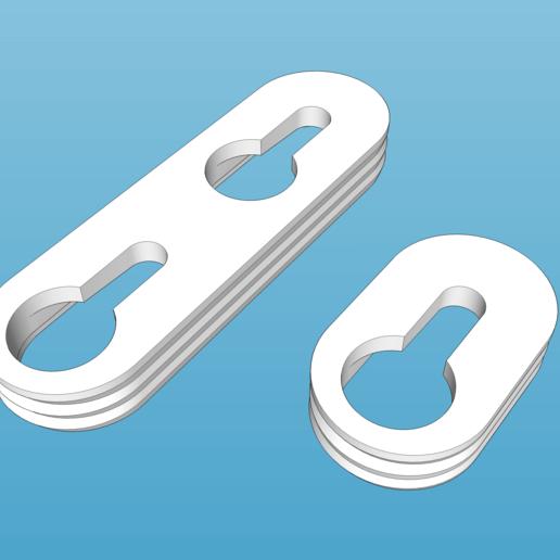 hanger4.png Télécharger fichier STL gratuit Cintre à trou de serrure (simple et double) • Modèle imprimable en 3D, peaberry